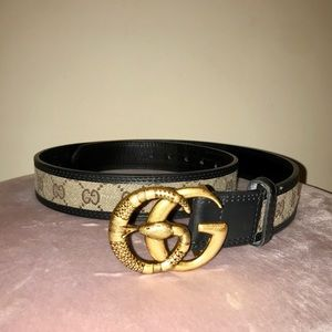 Gucci snake buckle belt size 100